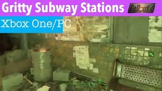 Fallout 4 Xbox One/PC Mods|Gritty Subway Stations