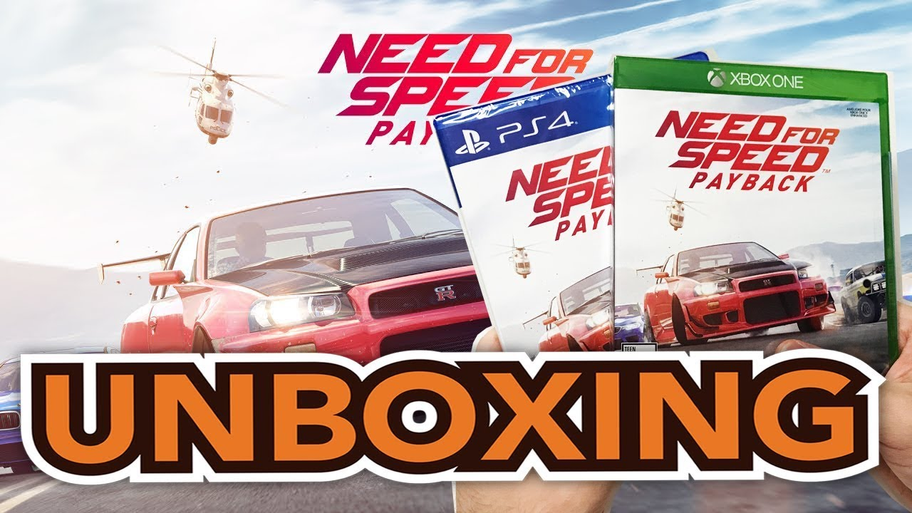 Need For Speed Payback Xbox One Ps4 Unboxing Youtube