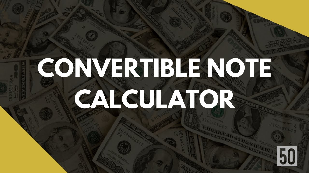 Free convertible note calculator  Conversion math at Series-A  Know how it  really works!