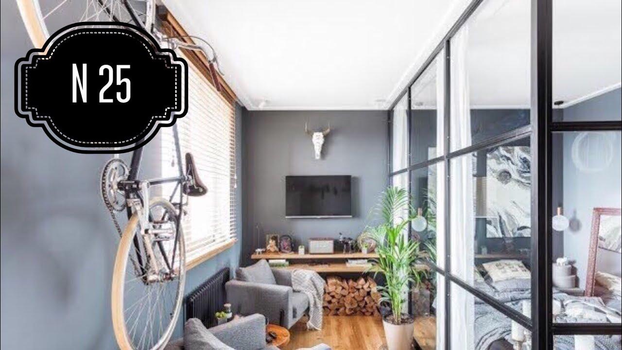 Обзор однокомнатной квартиры студии. Дизайн интерьера. Room Tour 25.