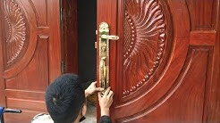 How To Installation A New Wood Door Locks Extremely Fast and Simple - Modern Door Locks