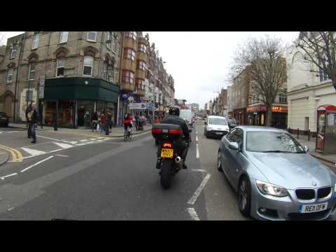 From Park Lane to Hendon on Motorbike