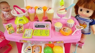 Baby doll Ice cream shop and cooking play
