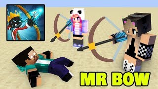 Monster School : GIRL VS BOY CHALLENGE [MR BOW PART 2] -  Minecraft Animation