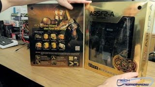 ECS A85F2-A AMD FM2 Golden ATX Motherboard Unboxing