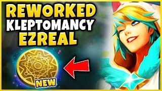 *REWORKED* KLEPTOMANCY EZREAL IS INSANELY OP (LITERAL 1V9) PAJAMA GUARDIAN EZREAL -League of Legends