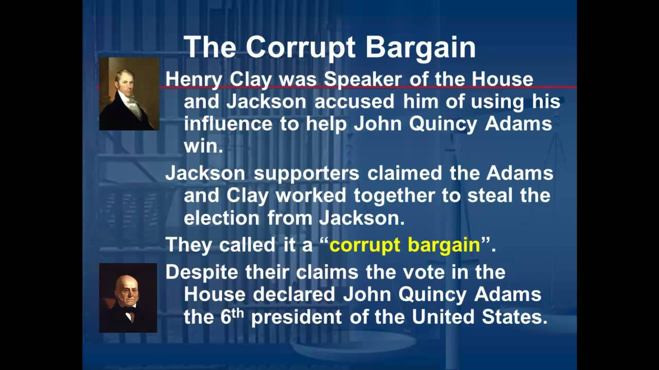 the corrupt bargain The corrupt bargain lyrics: kate: (spoken) and now, an explanation of the corrupt bargain, which took place in the back halls of washington while no one was watching.