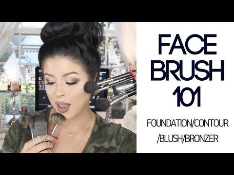 FACE BRUSH 101: Foundation | Contour | Bronzer | Blush