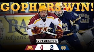Highlights: Gopher Hockey Finishes Sweep vs. Notre Dame