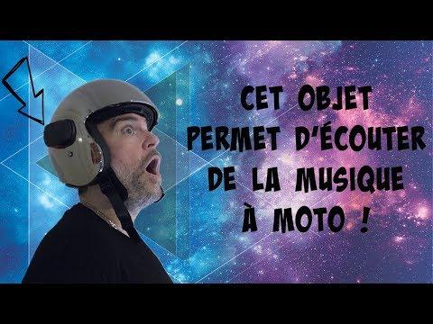 Écouter de la musique sous un casque de moto !