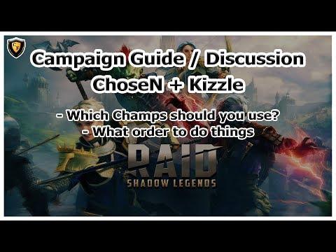 RAID Shadow Legends   Campaign Guide / Discussion   ft. Kizzle