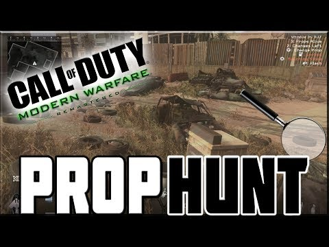 TOUGH GAMES OF PROP HUNT ON MODERN WARFARE REMASTERED!