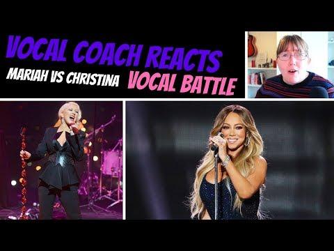 Vocal Coach Reacts to Mariah Carey Vs Christina Aguilera - Same Songs VOCAL BATTLE