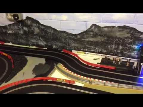 Scalextric slot car layout
