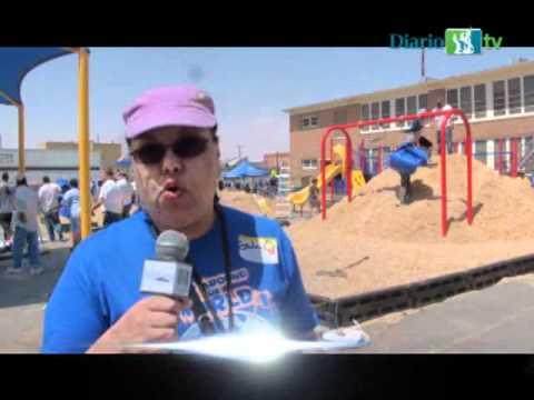 Construyen playground en La Fe Preparatory School, de El Paso, TX