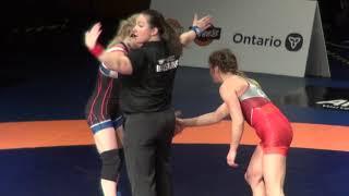 2019 Canadian Trials WW53kg Jade Parsons (Brock) vs  Grace Chambers (Dinos)