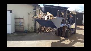FW Supplies Engineering hydraulic forklift  bucket attachment