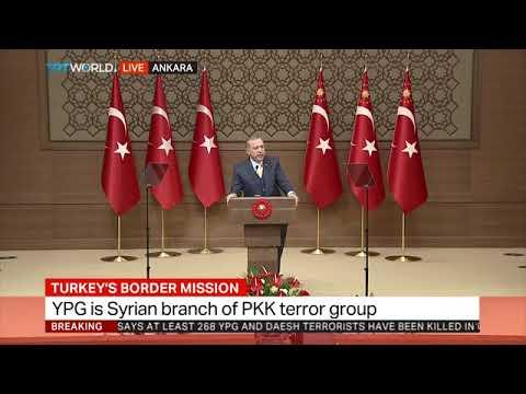 Turkey President Erdogan is  speaking on operation Olive branch in Afrin, Syria.