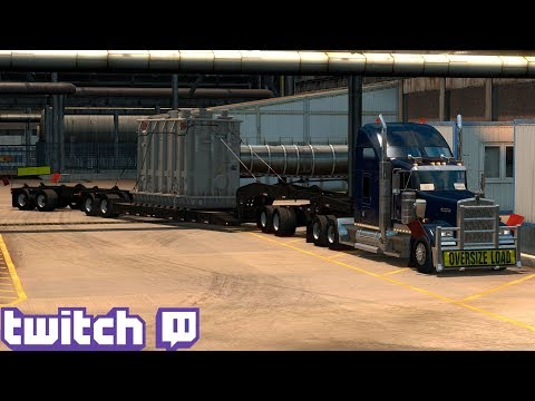 American Truck Simulator Day 26 | Heavy Cargo Elko To Arizona Part 3 | Twitch Live Stream