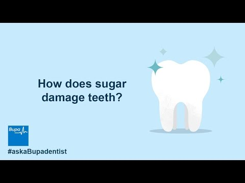 How does sugar damage teeth?