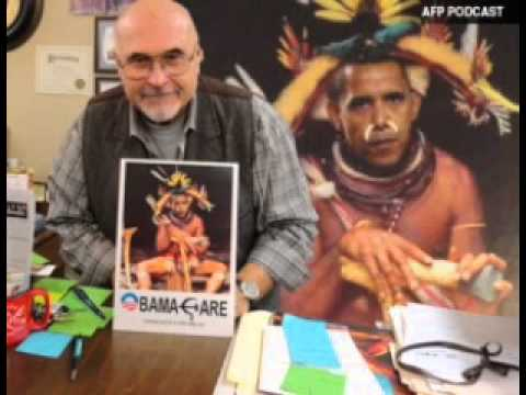 Obama Witch Doctor Display Roils Town