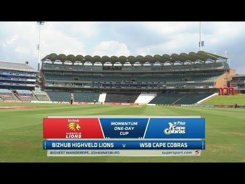 Momentum One-Day Cup | Bizhub Highveld Lions vs WSB Cape Cobras