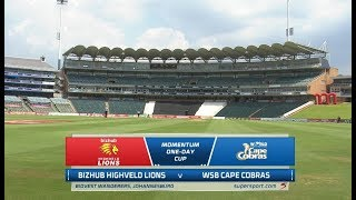 Momentum One-Day Cup | Bizhub Highveld Lions vs WSB Cape Cobras