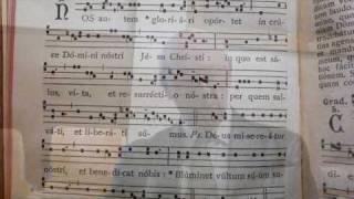 NOS  AUTEM  GLORIARI, Studio introito gregoriano, Giovanni Vianini, Milano, It.