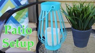 Outdoor Patio Setup