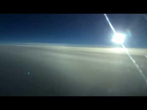 Morning flight over North Atlantic Ocean