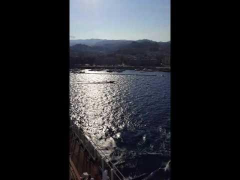 Carnival Vista destroys Messina, Italy marina 2016