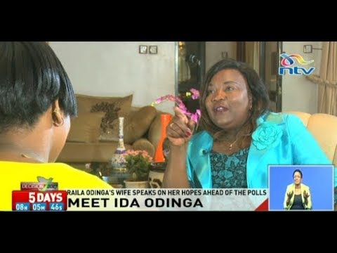 Will she be Kenya's first lady? Ida Odinga speaks to NTV's Jane Ngoiri
