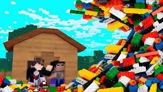 Minecraft: DESAFIO DA BASE 100% SEGURA CONTRA TSUNAMI DE LEGO  ‹ JUAUM ›