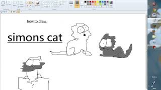 how to draw simons cat!
