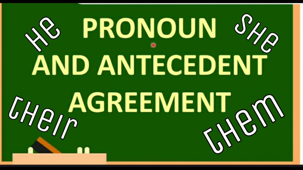 PRONOUN and ANTECEDENT AGREEMENT English Bytes - YouTube [ 720 x 1280 Pixel ]