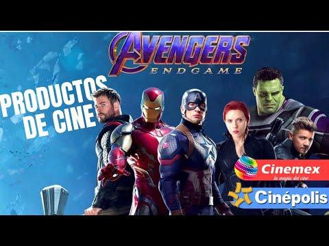 Productos de Cine Avengers Endgame/ Cinemex-Cinepolis