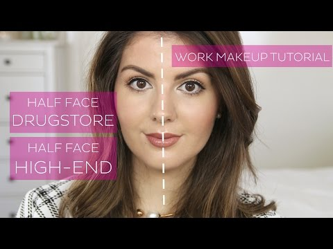 Half Face Makeup Tutorial // Drugstore Dupes For High-end Products // Everyday Makeup, Work Makeup