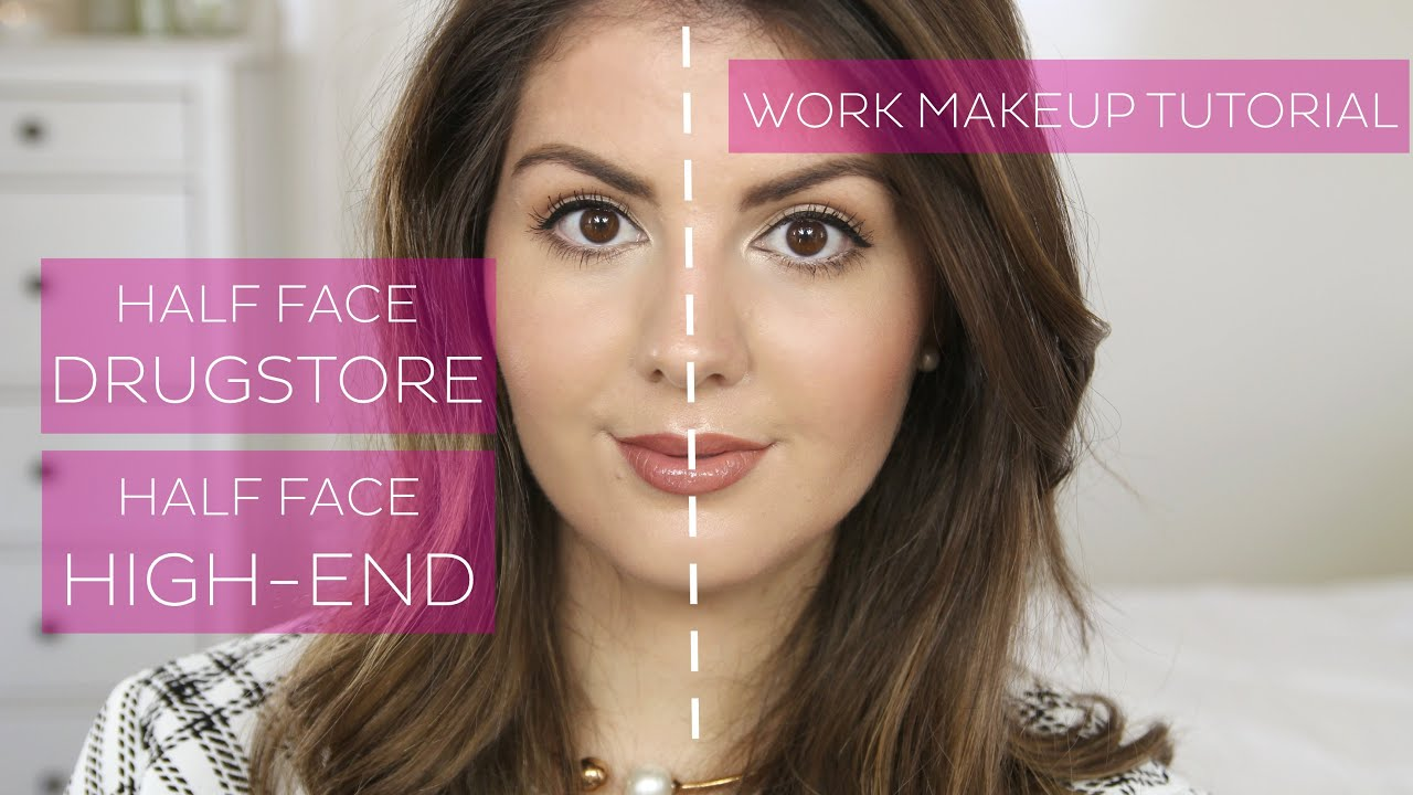 How do you create different makeup looks using drugstore brands?