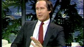 Chevy Chase talks about when he was a guest host on The Tonight Show,  part 1, Dec 1986