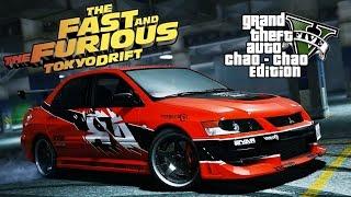 GTA 5 - Дрифт на Mitsubishi Lancer Evolution IX ( Токийский Дрифт / Форсаж )