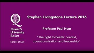 Stephen Livingstone Lecture 2016