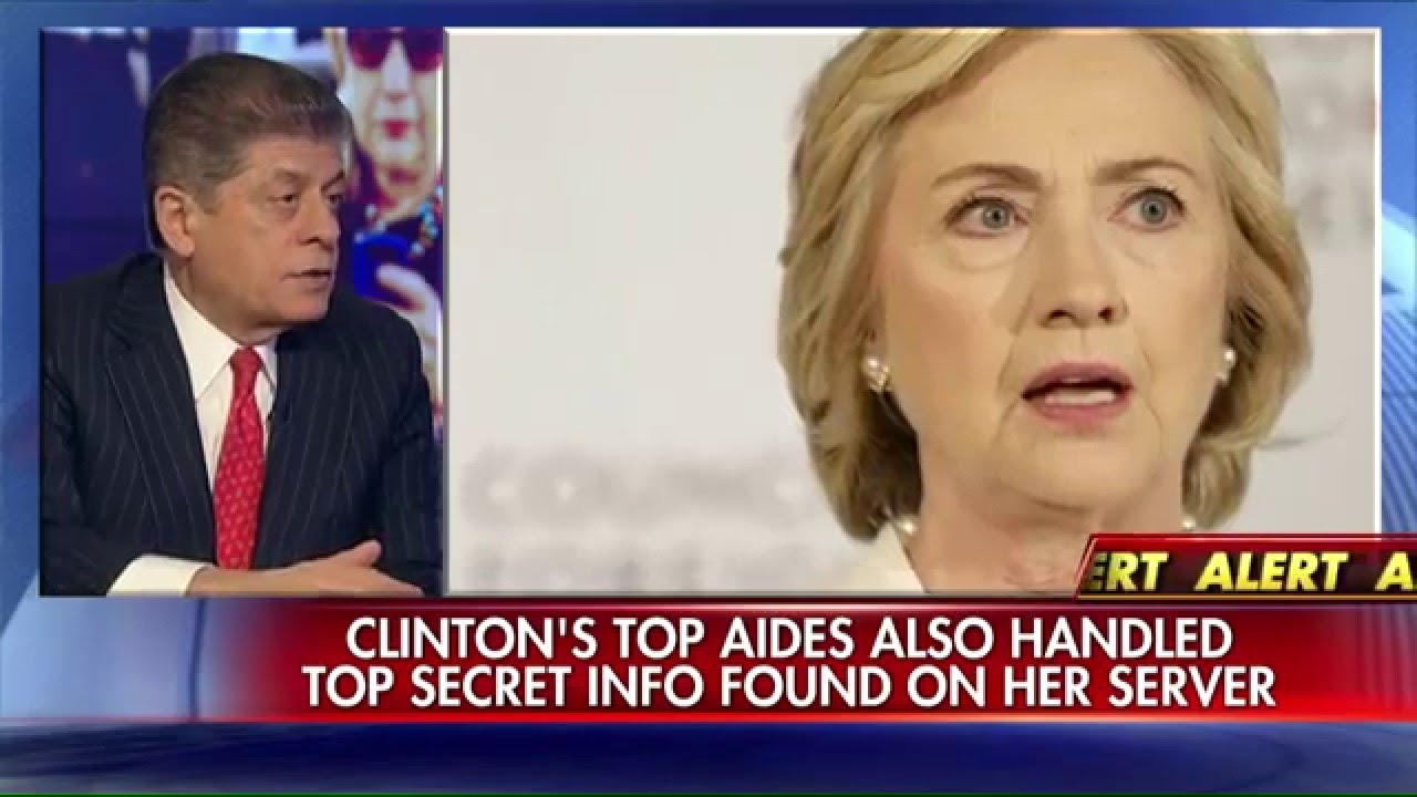 Judge Nap: Hillary Clinton's top aides could be indicted.