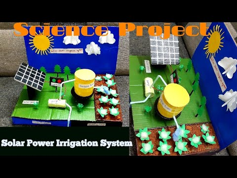 Solar Power Irrigation system Model | Science Project For School Exhibition | My little space