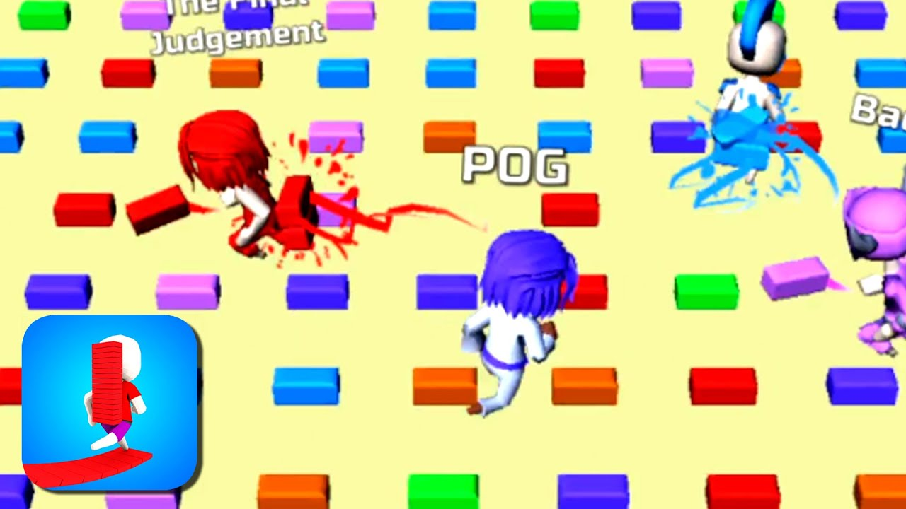 BRIDGE RACE with POG | All Levels Road (iOs, Android) Gameplay Lvl 100-103