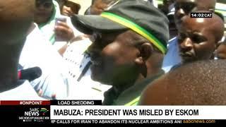 DD Mabuza admits President Ramaphosa was misled by the Eskom board