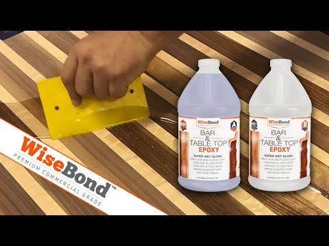 WiseBond™ Bar And Table Top Epoxy - Butcher Block Seal Coat