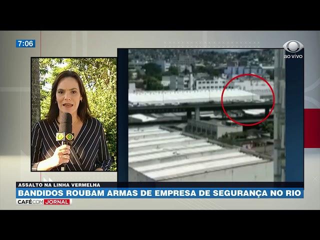 Bandidos roubam armas de empresa de segurança no RJ