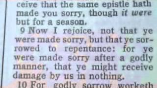 1039 2 Corinthians 7 Chronological Bible (godly sorrow)