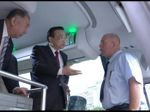 Chinese Premier inspects Chinese Bus Manufacturer in Cuba