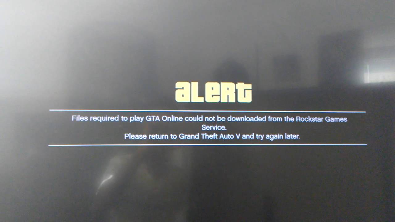 could not download files from the rockstar games service required